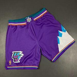 100% Authentic Mitchell & Ness 96 97 Jazz Shorts Size 48 XL Mens - karl malone