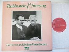 RUBINSTEIN & SZERYNG PLAY BEETHOVEN & BRAHMS VIOLIN SONATAs RCA 5701-3