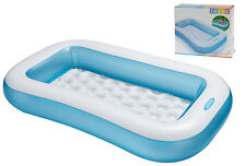 Intex Rectangular Baby Swimming Paddling Garden Pool + Inflatable Cushion Floor