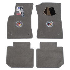 2002-2005 Cadillac Deville DTS DHS Grey Floor Mats - Crest Logos - USA Made
