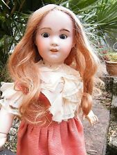 ANTIQUE RARE FRENCH SFBJ 230 Jumeau Character Bisque Head Doll Walking Corps 56 cm