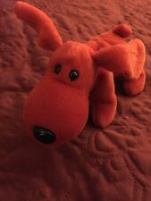 Ty ROVER the Red Dog Beanie Baby 4101 Retired - W/CHOCOLATE TUSH Tag Mixup error