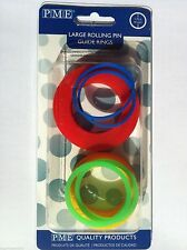 PME Large rolling pin guide rings sugarpaste  marzipan spacers Next Day Despatch