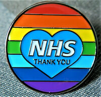 NHS Rainbow Thank You Heart Enamel Lapel Pin Badge – NATIONAL HEALTH SERVICE UK