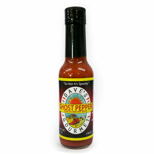 DAVE'S GOURMET GHOST PEPPER  Naga Jolokia - Extra Hot Chilli Sauce - FREE P&P