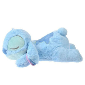 Fluffy Sleeping Stitch Plush Doll Pillow Toy Cushion Good Night Lio & Stitch