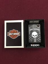 HARLEY DAVIDSON SKULL #28085 ZIPPO LIGHTER MINT IN BOX BLACK MATTE