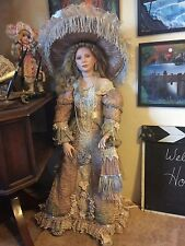 "THELMA RESCH DOLL RARE 330/2000 36"" LARGE PORCELAIN LADY WOMEN VICTORIAN FORMAL"