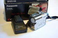 Videocámara Mini Dv Video Panasonic NV-GS4B, 10x Zoom Ilink Firewire, Minidv, Sd