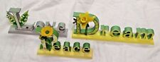 3 pc. Set Home Decor Sign for Shelf Counter Table - Love, Dream, Peace