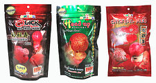 OKIKO High Quality Flowerhorn and Cichild Fish Food 3x100g. Q-H-C Pellet SizeL.