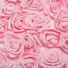 50~200x Hochzeit Deko Blumen Schaum Rosen Künstliche Blumen Rosenköpfe