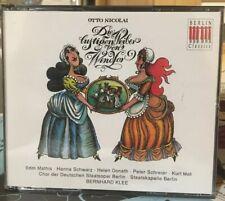 OTTO NICOLAI: DIE LUSTIGEN WIEBER VON WINDSOR USED - 2 CD Libretto Excellent