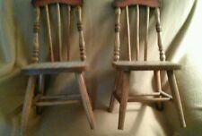 Children wooden doll chairs
