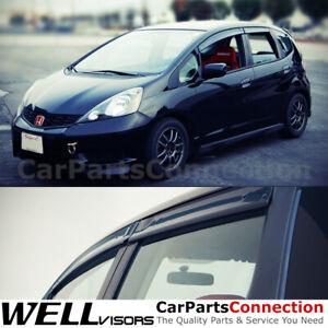 WellVisors Window Visors 09-14 For Honda Fit Side Deflectors