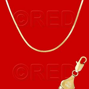 """GOLD over SILVER QUALITY MADE in ITALY 3mm HERRINGBONE CHAIN 20""""  NECKLACE VH3F"""