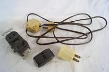 Vintage Lot of 4 Socket Plug Adapters Leviton Etc.