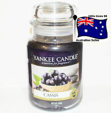 Yankee Candle Cassis Large Jar 22oz Scented Candle