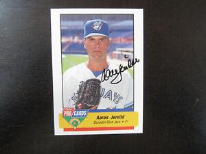 1994 Fleer ProCards # 2552 Aaron Jersild Autograph Signed (B) Dunedin Blue Jays