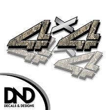 4x4 Decals 2 Pk Sticker Chevy Silverado Sierra truck - Skull Original - D&3