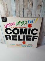 COMIC RELIEF - PRESENTS  UTTERLY UTTERLEY LIVE VINYL LP RARE KATE BUSH TRACKS