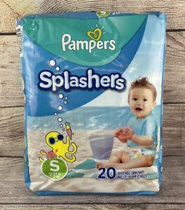 Pampers Splashers Swim Diaper Pants Small 13 - 24lbs 20pc NEW Pool Water Beach