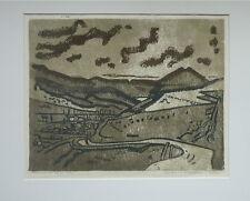 """Otto B. De KAT(1907-1995): """"Monts du Cantal"""", 5 linogravures en couleurs, 1970"""
