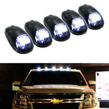 5pcs Smoked Cab Roof Top LED Marker Running Lights for Truck Pickup SUV White