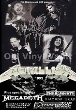 Metallica Concert Poster Milton Keynes Bowl June 1993 A3 Repro