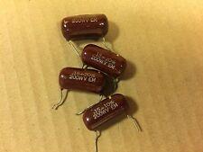 4 Vintage ElMenco Brown Drop .15 uf 200v Capacitors Em Guitar Tone Caps