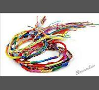 Armband,   4 farbenfrohe Freundschaftsbänder - Handarbeit - geflochten- Stoff