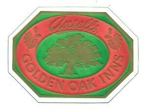 ANSELLS BREWERY Beermat Cat 178 Birmingham 1986 Flimsy tissue Golden Oak Inns