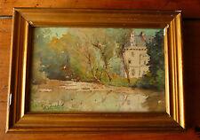 tableau ancienne aquarelle d'ernest designolle (1850-1941) élève d'harpignies