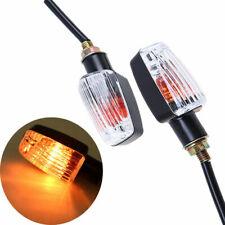 2x 12V Motorcycle Mini Turn Signal Indicators Light Bulb Lamp Blinker Clear Lens