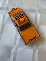Vintage matchbox superkings plymouth gran fury Orange Police Car 1979