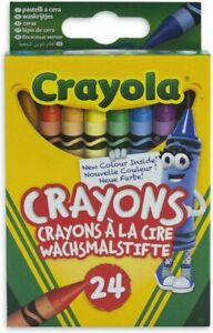 Crayola Wax Coloured Crayons - 24 Pack. Home, School, Arts & Crafts, Pictures.