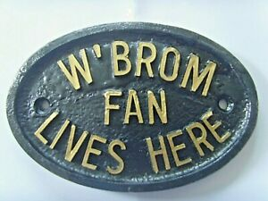 WEST BROM FAN BAGGIES GARDEN BEDROOM DOOR GARAGE SHED SIGN Gold / Silver Letters