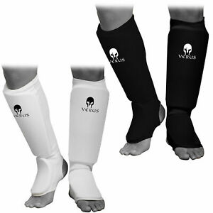 VERUS Shin Instep Guards MMA Kickboxing Muay Thai Leg Support Protector Pad