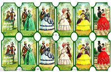 Vintage Victorian Die Cut Sheet Paper Scraps Uncut Romantic scene MLP 1566