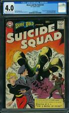 Brave and the Bold #25 CGC 4.0 DC 1959 1st Suicide Squad! Harley! F12 1 141 cm