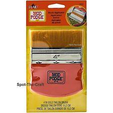 Mod Podge Brush Applicator 4 Inches Wide Flat Gold Taklon 12917