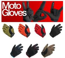 Biltwell Moto Motorcycle Gloves (Black, Blue, Red, Brown..)