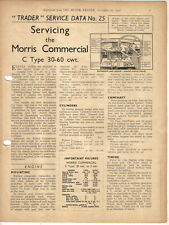 Morris Commercial C Type 30-60 cwt Motor Trader Service Data No. 25 1937