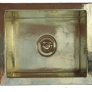 Kitchen sink Brass- HandHammered rectangle sink -Undermount sink brass Artisana