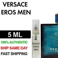 Versace Eros for Men Eau de Toilette EDT 5ml Decant Spray Bottle 100% Authentic
