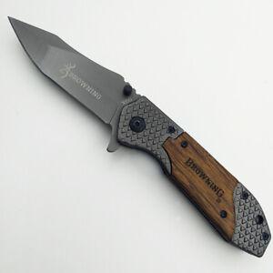 Browning Folding Knife Pocket Knives Camping Hunting Fishing Survival Tactical