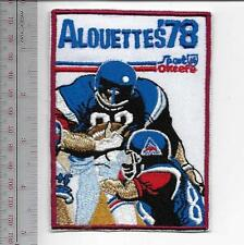 Beer Football Quebec Montreal Alouettes & O'Keefe Beer 1978 CFL Promo Patch