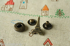 Eiffel Tower Snap Buttons 5pc zakka Paris DIY sewing notions craft deco button
