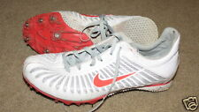 Good Nike white and pink track cleats / spikes - womens 8