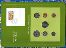 Coin Sets of All Nations Swaziland wcard 1975-1982 UNC 50 cents 1 Lilangeni 1981